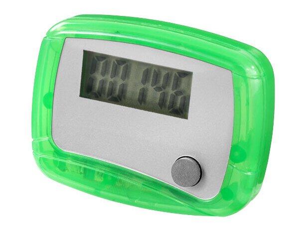 Podómetro con apagado automático personalizado verde