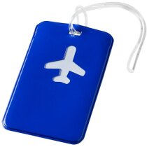 Etiqueta para equipaje con dibujo de avión