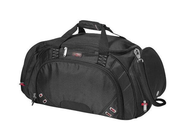 Bolsa de viaje de nylon marca Elleven personalizada negro intenso