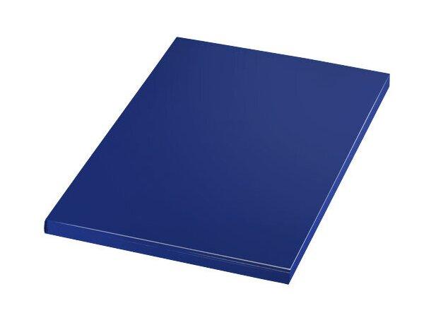 Bloc tamaño A5 con hojas cuadriculadas personalizado azul medio