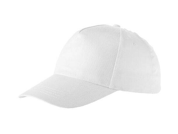 Gorra de algodón colores lisos personalizada blanca