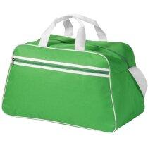 Bolsa de deporte con compartimento muy amplio verde brillante con logo