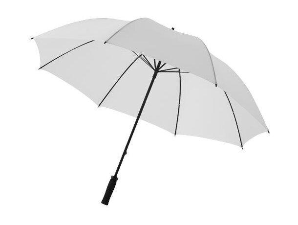 """Paraguas anti tormenta de 30"""" personalizado blanco primario"""