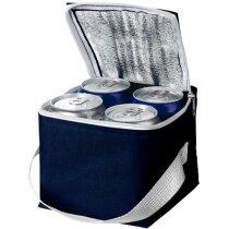 Bolsa isotérmica para 4 latas personalizada azul marino
