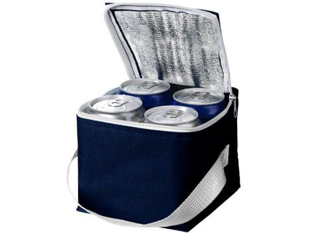 Bolsa personalizada isotérmica para 4 latas personalizada azul marino