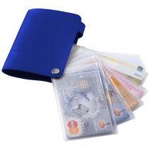 Tarjetero para 10 tarjetas personalizado azul medio