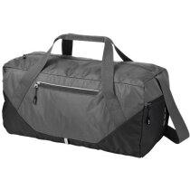 Bolsa de viaje bicolor plegable personalizada gris