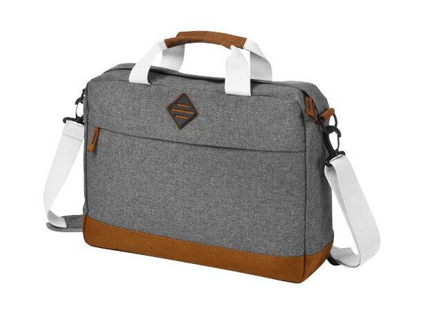 Bolsa de congresos exclusiva para portátil personalizada gris medio