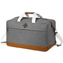 Bolsa de viaje de poliéster 300d personalizada gris medio
