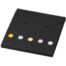 Bloc de notas de colores personalizada negro intenso