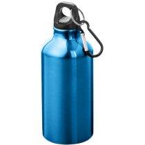 Cantimplora de aluminio con mosquetón 350 ml personalizada azul
