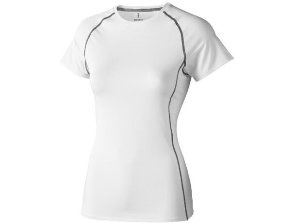 Camiseta manga corta de mujer kingston de Elevate 200 gr original blanca