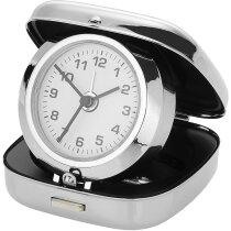 Reloj de sobremesa despertador personalizado plata