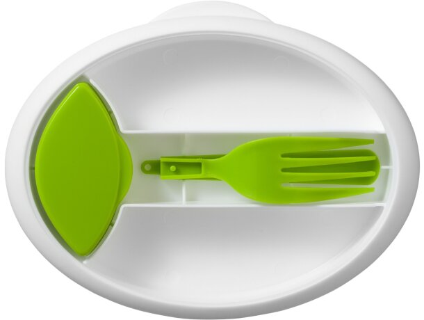 Tartera con tenedor y tarro para condimentos personalizada