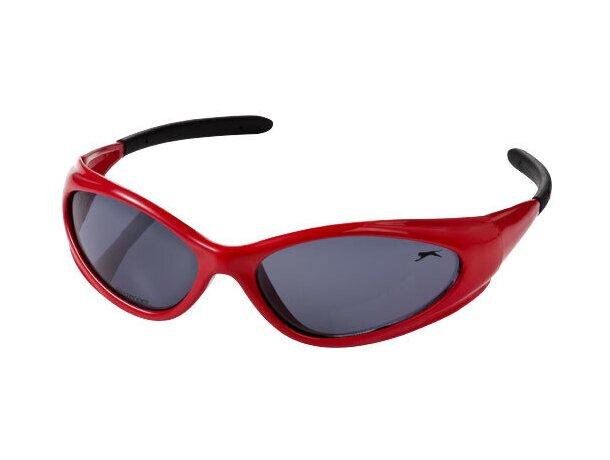 Gafas de sol ligeras y resistentes personalizada roja personalizado