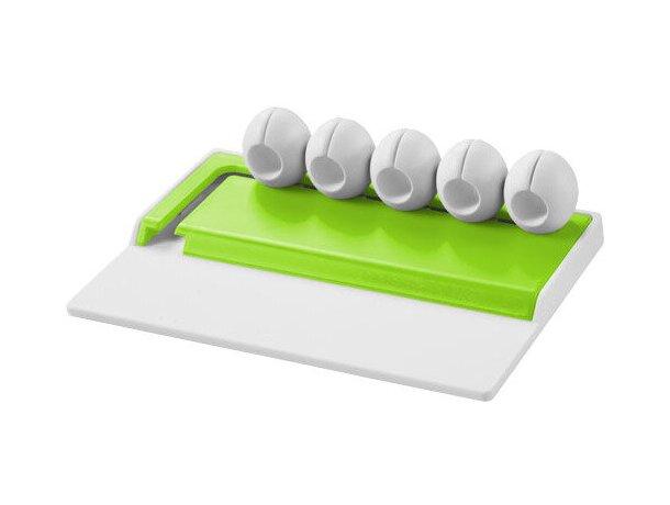 Organizador para cables personalizado blanco