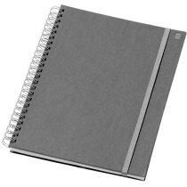 Libreta A5 con cierre de goma personalizada gris