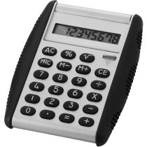 Calculadora ligera de sobremesa personalizada plata