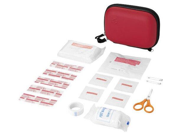 Botiquín de primeros auxilios con 16 piezas personalizado rojo