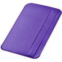 Portatarjetas ID en polipiel personalizada púrpura
