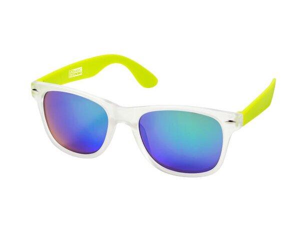 Gafas de sol de policarbonato uv 400 personalizada verde claro