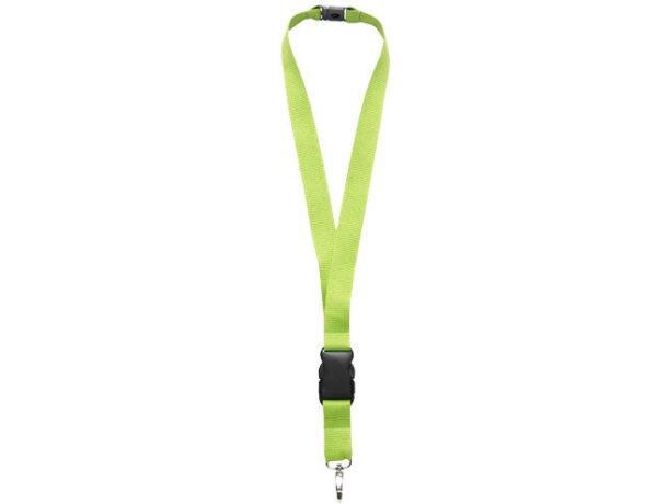 Lanyard personalizado con cierre de seguridad y hebilla separable verde claro