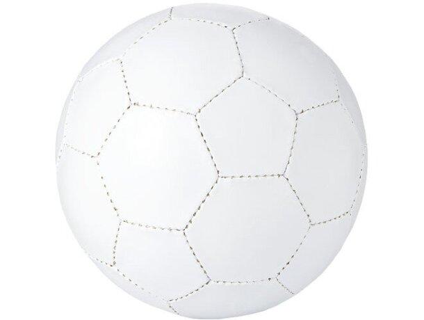 Balón fútbol doble capa y 32 paneles blanco