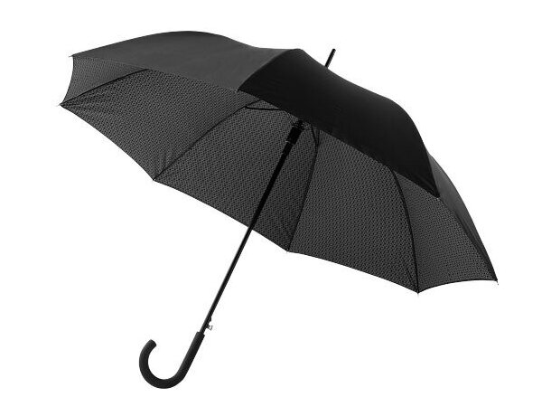 "Paraguas de doble capa de 27"" personalizado negro intenso"