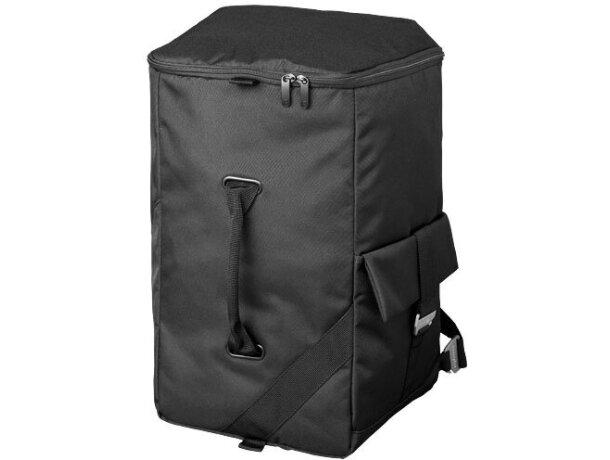 Bolsa y mochila de viaje de poliéster alta densidad personalizada negro intenso