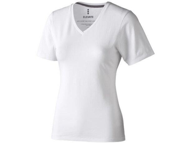 Camiseta de mujer alta calidad 200 gr blanca