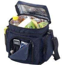 Bolsa nevera con varios bolsillos personalizada azul marino