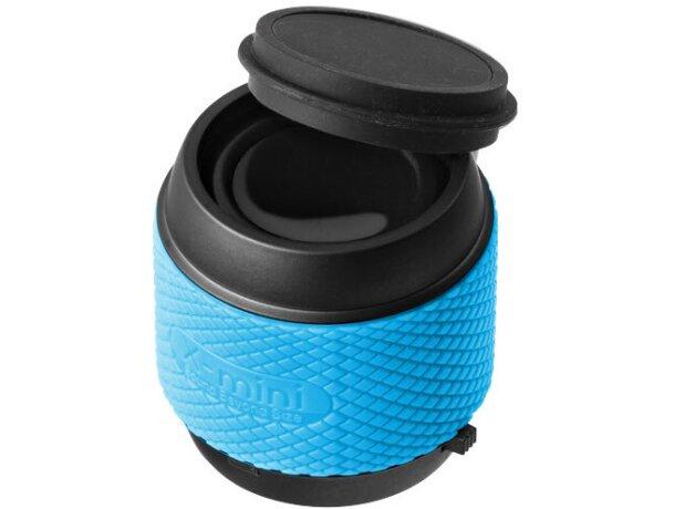 Altavoz mini de gran calidad con estuche azul claro