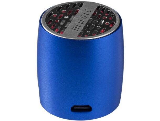 Altavoz compacto de aluminio personalizado azul medio