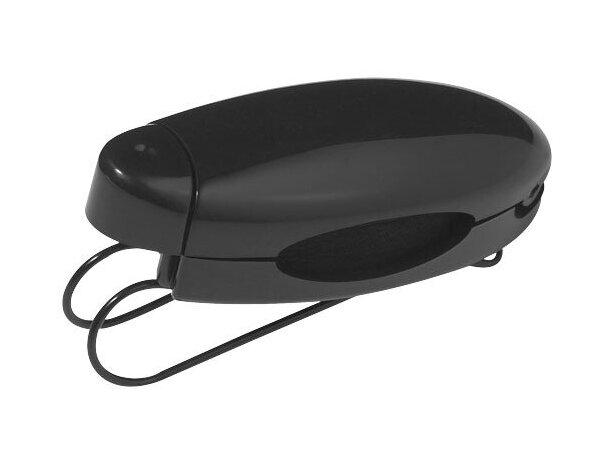 Clip de visera para accesorios personalizado negro intenso