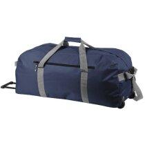 Bolsa de viaje con trolley personalizada azul marino
