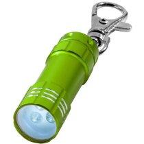 Llavero  linterna con anilla dividida personalizado verde