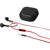 Cascos auriculares con control de llamadas negro intenso barato
