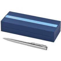 Bolígrafo en acero inoxidable elegante con caja personalizado plata