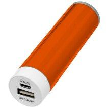 Batería externa de 2200mah personalizada naranja
