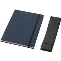 Libreta de notas con tapas de cartón duro personalizada negro intenso