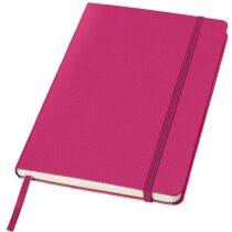 Cuaderno con cierre de banda elástica rosa