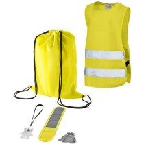 Set de seguridad para niños 5 piezas personalizado amarillo