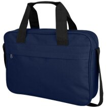 Bolsa de congresos con bolsillo frontal grande personalizada azul marino