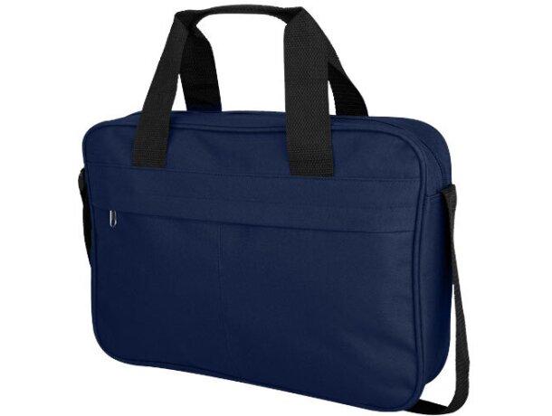Bolsa de congresos con bolsillo frontal grande grabado azul marino