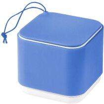 Altavoz mini de plástico y silicona azul