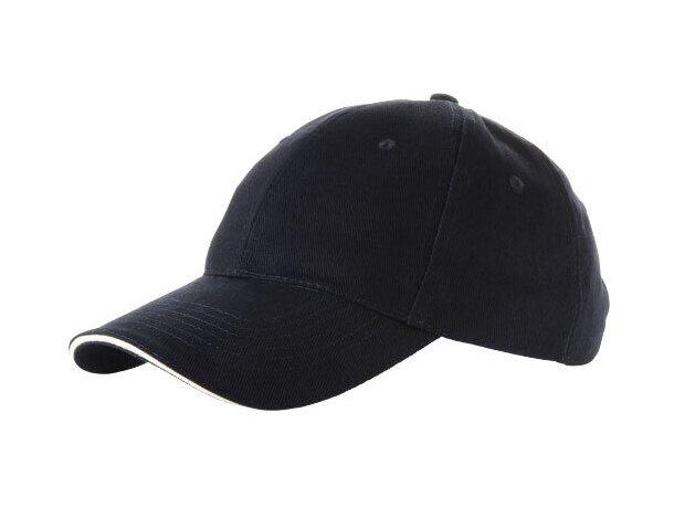 Gorra básica de algodon con perfil blanco personalizada azul marino