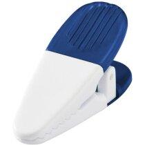 Clip porta notas modelo pinza personalizada azul transparente