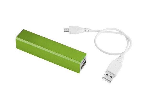Bateria portatil de 2200mah 2 personalizada verde claro