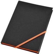 Cuaderno de notas A5 con cierre de cinta en color