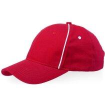 Gorra con 6 paneles y detalles de color personalizada roja